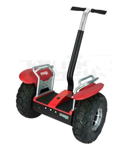Scooters freego off road 2 wheel stand up scooter for Stand on scooters with motor